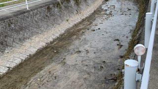 河床掘削完了
